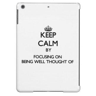 Guarde la calma centrándose en estar Bien-Pensamie
