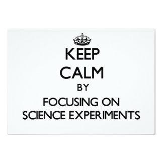 Guarde la calma centrándose en experimentos de la invitación 12,7 x 17,8 cm