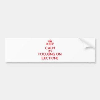 Guarde la calma centrándose en EYECCIONES Etiqueta De Parachoque