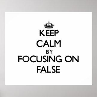 Guarde la calma centrándose en falso