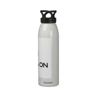 Guarde la calma centrándose en ferias botella de agua reutilizable