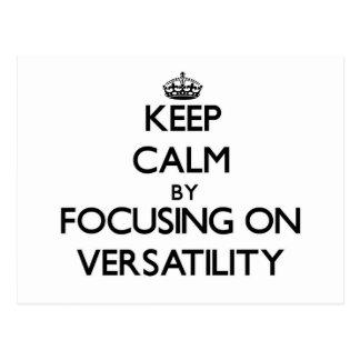 Guarde la calma centrándose en flexibilidad