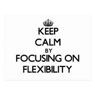 Guarde la calma centrándose en flexibilidad tarjetas postales