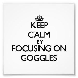 Guarde la calma centrándose en gafas fotografías
