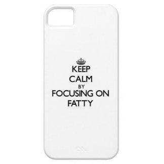 Guarde la calma centrándose en graso iPhone 5 cárcasas