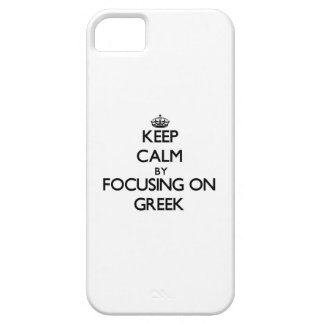 Guarde la calma centrándose en Griego