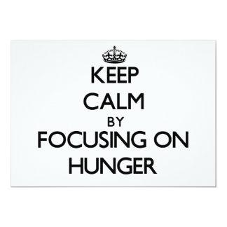 Guarde la calma centrándose en hambre anuncios