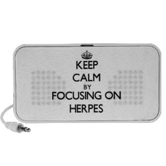 Guarde la calma centrándose en herpes