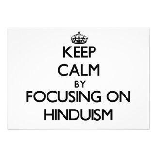 Guarde la calma centrándose en Hinduism Invitaciones Personalizada