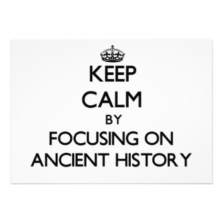 Guarde la calma centrándose en historia antigua comunicados