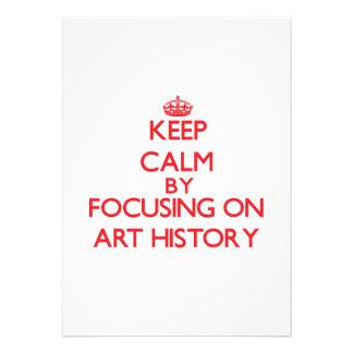 Guarde la calma centrándose en historia de arte invitaciones personales