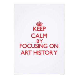 Guarde la calma centrándose en historia de arte comunicados personalizados