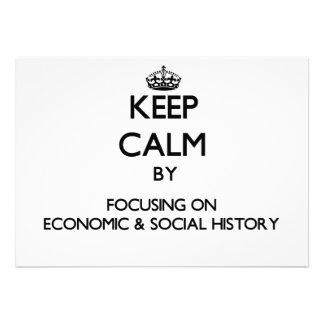 Guarde la calma centrándose en historia económica anuncios personalizados