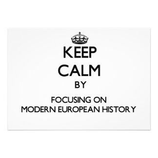 Guarde la calma centrándose en historia europea comunicado