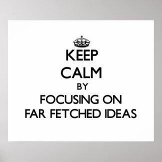 Guarde la calma centrándose en ideas traídas lejan