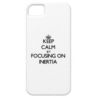 Guarde la calma centrándose en inercia iPhone 5 funda
