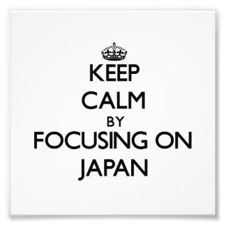 Guarde la calma centrándose en Japón Arte Con Fotos