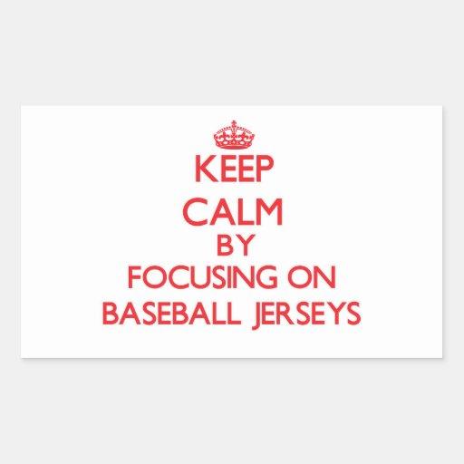 Guarde la calma centrándose en jerseys de béisbol rectangular altavoz