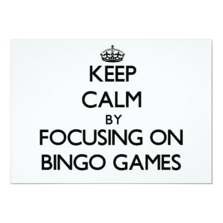 Guarde la calma centrándose en juegos del bingo anuncios personalizados