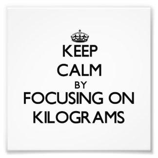 Guarde la calma centrándose en kilogramos cojinete