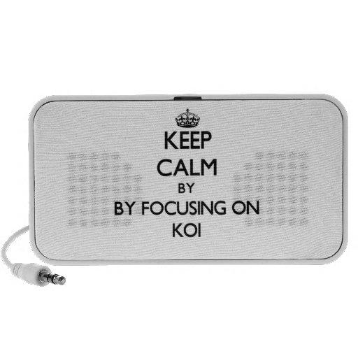 Guarde la calma centrándose en Koi Altavoz De Viajar