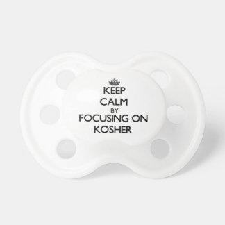Guarde la calma centrándose en kosher