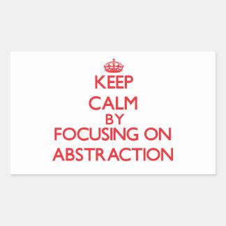 Guarde la calma centrándose en la abstracción rectangular altavoces