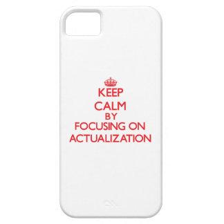 Guarde la calma centrándose en la actualización iPhone 5 cárcasa