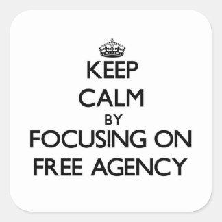 Guarde la calma centrándose en la agencia libre colcomanias cuadradas personalizadas