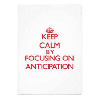 Guarde la calma centrándose en la anticipación comunicados personales