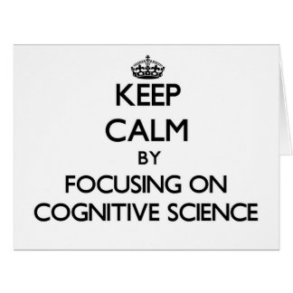 Guarde la calma centrándose en la ciencia tarjeta de felicitación grande