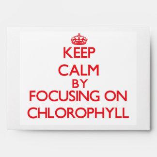 Guarde la calma centrándose en la clorofila