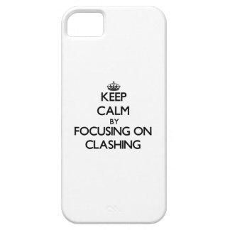Guarde la calma centrándose en la coincidencia iPhone 5 Case-Mate funda