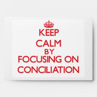 Guarde la calma centrándose en la conciliación