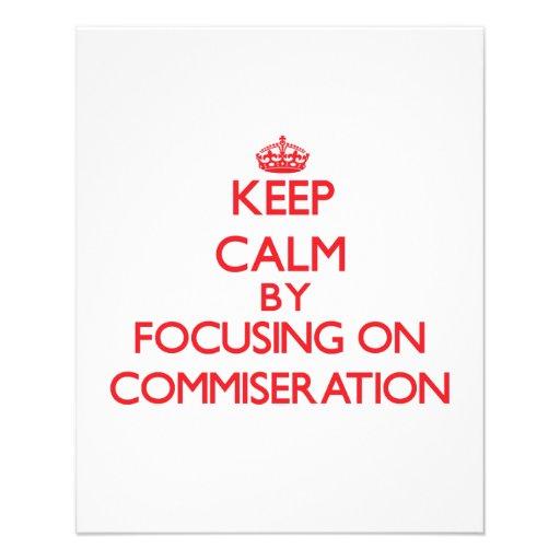 Guarde la calma centrándose en la conmiseración tarjetones