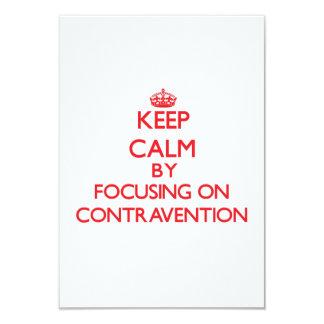 """Guarde la calma centrándose en la contravención invitación 3.5"""" x 5"""""""