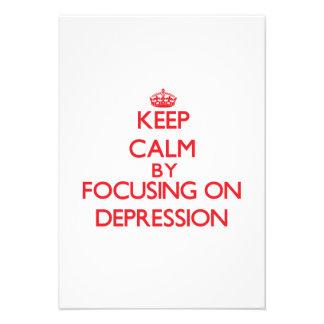 Guarde la calma centrándose en la depresión comunicado
