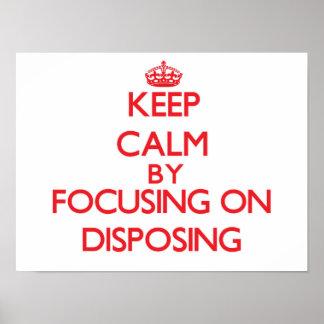 Guarde la calma centrándose en la disposición impresiones