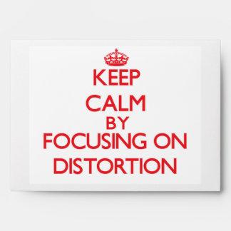 Guarde la calma centrándose en la distorsión