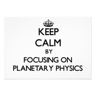 Guarde la calma centrándose en la física anuncio