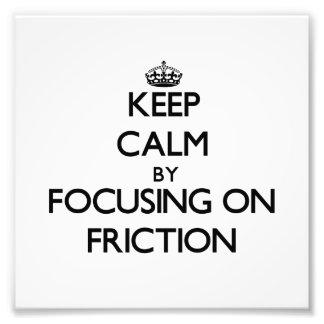Guarde la calma centrándose en la fricción fotografías