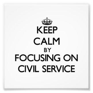 Guarde la calma centrándose en la función pública