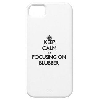 Guarde la calma centrándose en la grasa de ballena iPhone 5 Case-Mate protector