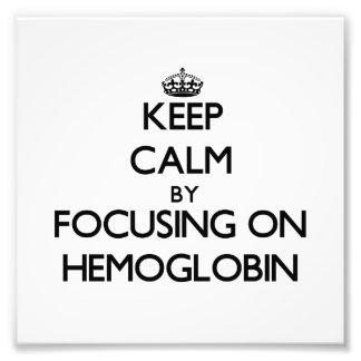 Guarde la calma centrándose en la hemoglobina fotos