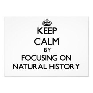 Guarde la calma centrándose en la historia natural