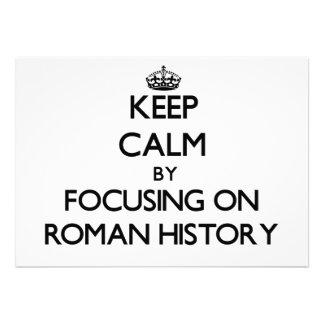 Guarde la calma centrándose en la historia romana anuncios personalizados