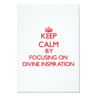 """Guarde la calma centrándose en la inspiración invitación 3.5"""" x 5"""""""