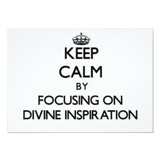 """Guarde la calma centrándose en la inspiración invitación 5"""" x 7"""""""