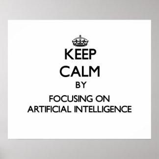 Guarde la calma centrándose en la inteligencia art