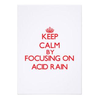 Guarde la calma centrándose en la lluvia ácida invitacion personal